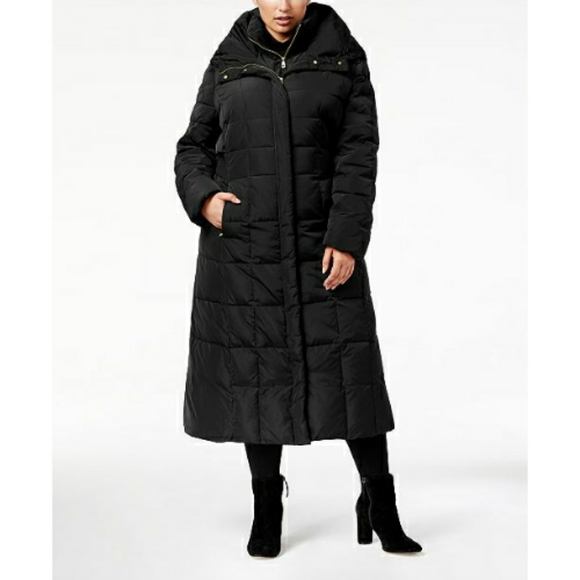 Cole Haan Signature Hooded Maxi Puffer Coat